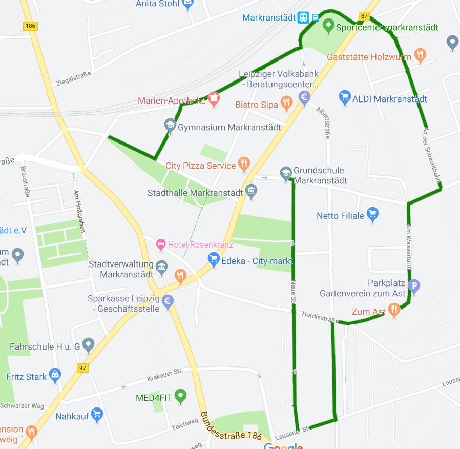 Verlauf Festumzug Markranstädter Kinderfest 2019