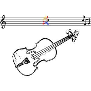 Malvorlage Geige