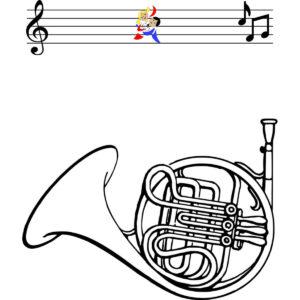Malvorlage Horn