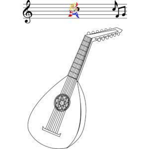 Malvorlage Mandoline
