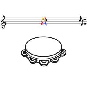 Malvorlage Tamburin