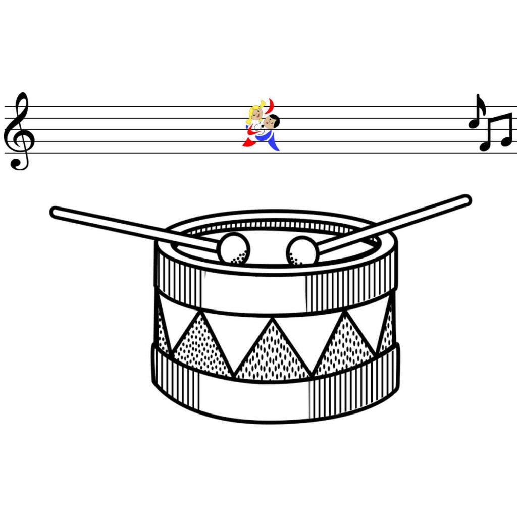 Malvorlage Trommel