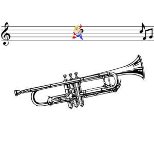 Malvorlage Trompete