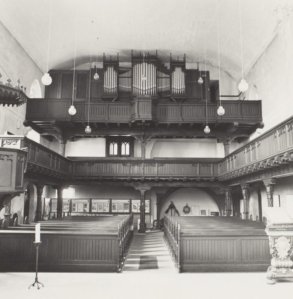 Orgel der Kirche Markranstädt vor 1990