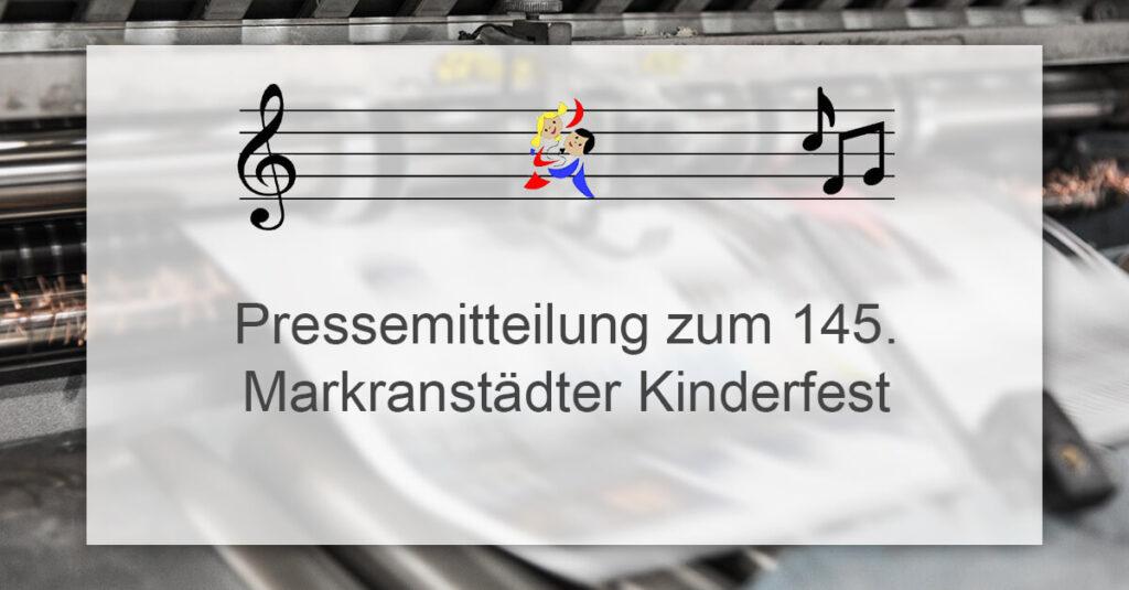 Pressemitteilung 145 Markranstädter Kinderfest