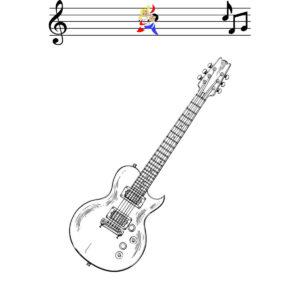Malvorlage E-Gitarre