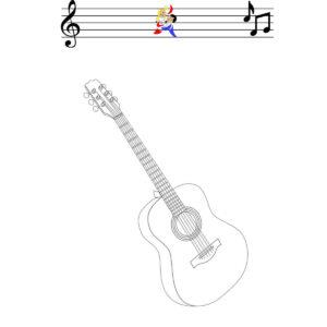 Malvorlage Gitarre